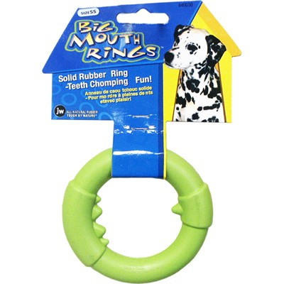 JW Pet Big Mouth Ring Rubber Dog Toy, Large