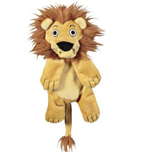 JW Pet Crackle Heads Leroy the Lion Dog Toy, Medium