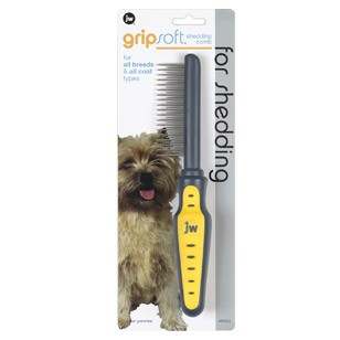 JW Pet Shedding Comb for Dogs