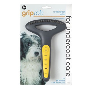 JW Pet Gripsoft Undercoat Rake for Dogs