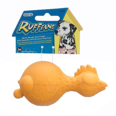 JW Pet Ruffians Chicken Squeaky Dog Toy