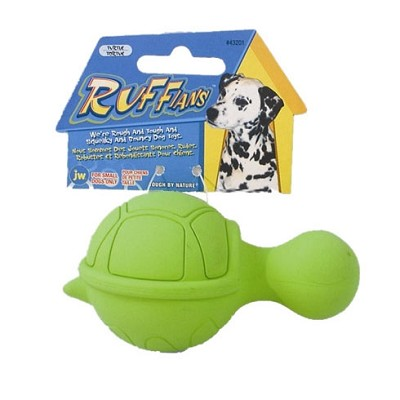 JW Pet Ruffians Turtle Squeaky Dog Toy