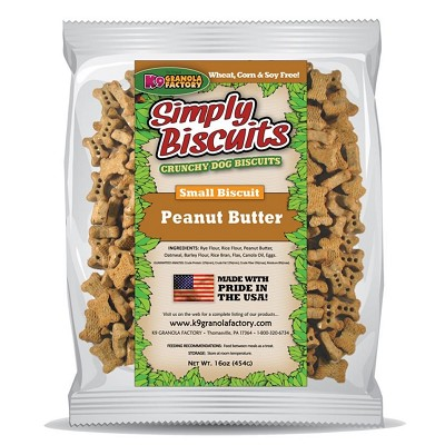 K9 Granola Factory Simply Biscuits Peanut Butter Dog Treats, Small