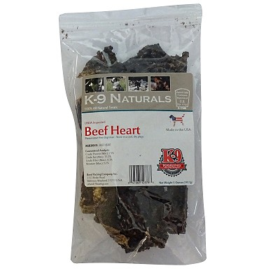 K9 Kraving Beef Heart for Dogs, 5-oz Bag