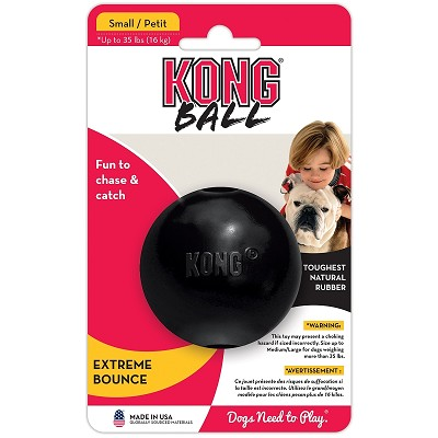 KONG Extreme Ball Dog Toy, Small