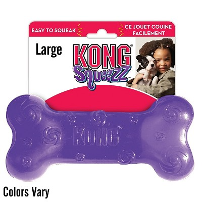 KONG Squeezz Bone Dog Toy, Large