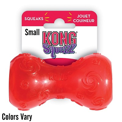KONG Squeezz Dumbbell Dog Toy, Small