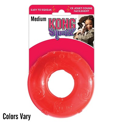 KONG Squeezz Ring Dog Toy, Medium