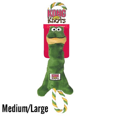 KONG Tugger Knots Frog Dog Toy, Medium/Large