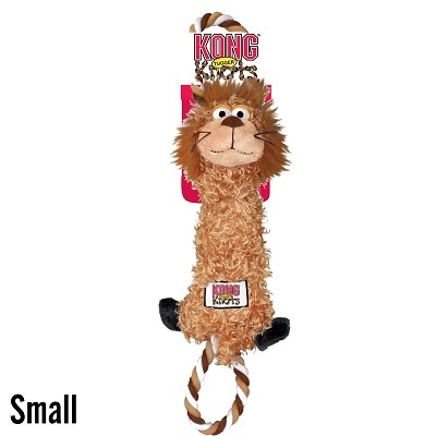 KONG Tugger Knots Lion Dog Toy, Small