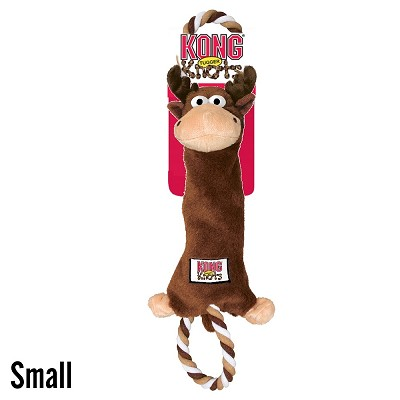 KONG Tugger Knots Moose Dog Toy, Small
