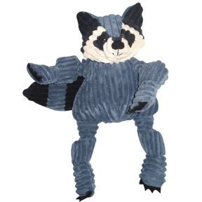 HuggleHounds Knotties Raccoon Dog Toy, Large