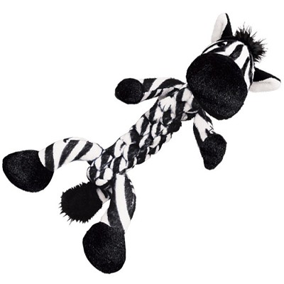 Discontinued, Kong Braidz Zebra Dog Toy, Large