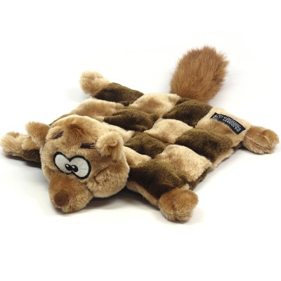 Kyjen Plush Squeaker Mat Squirrel Dog Toy, Small
