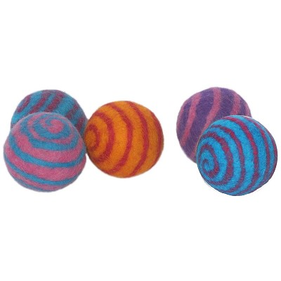 Lollycadoodle Boiled Wool Ball Dog Toys, Small
