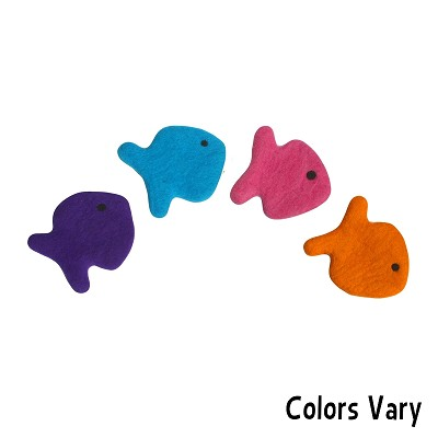 Lollycadoodle fish boiled wool dog toys large for Fish dog toy