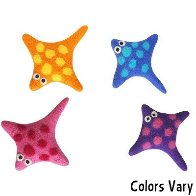 Lollycadoodle Boiled Wool Stingray Dog Toy