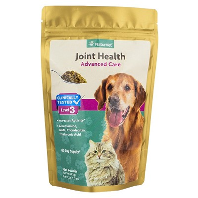 NaturVet Joint Health Level 3 Advanced Joint Support Dog & Cat Powder Supplement