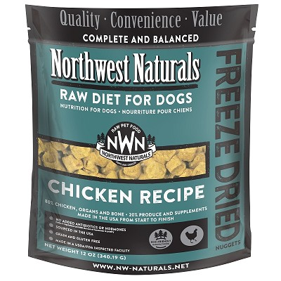 Northwest Naturals Chicken Recipe Freeze-Dried Dog Food, 12-oz Bag