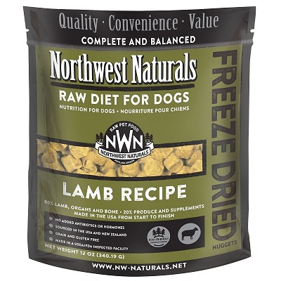 Northwest Naturals Lamb Recipe Freeze-Dried Dog Food, 12-oz Bag