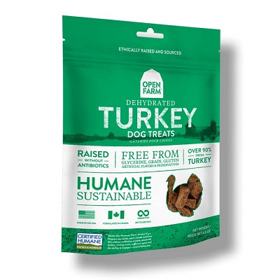Open Farm Dehydrated Turkey Dog Treats, 4.5-oz Bag