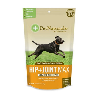 Pet Naturals of Vermont Hip + Joint Max Dog Chews Supplement, 60 count