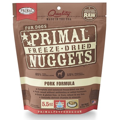 Primal Pork Formula Nuggets Freeze-Dried Dog Food, 5.5-oz Bag