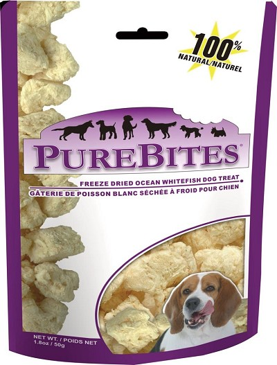 PureBites Ocean Whitefish Freeze-Dried Dog Treats, 7 Ounces