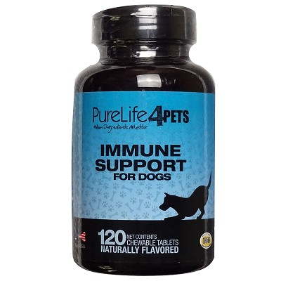 PureLife 4 Pets Immune Support Chewable Dog Supplement, 120 Count