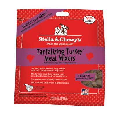 Stella & Chewy's Tantalizing Turkey Meal Mixers Freeze-Dried Dog Food Topper, 18-oz Bag