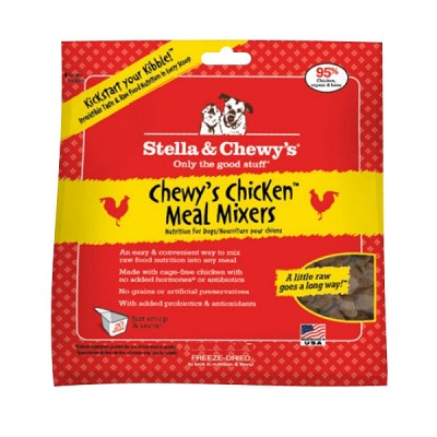 Stella & Chewy's Chewy's Chicken Meal Mixers Freeze-Dried Dog Food Topper, 18-oz Bag