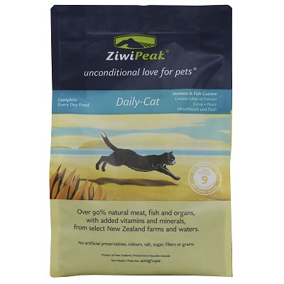 ZiwiPeak Daily-Cat Cuisine Venison & Fish Air-Dried Cat Food, 14-oz Bag