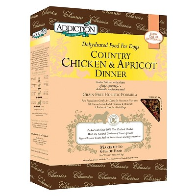 Discontinued, Addiction Grain-Free Country Chicken & Apricot Dinner Raw Dehydrated Dog Food