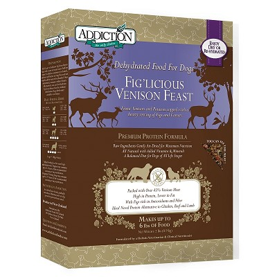 Discontinued, Addiction Grain-Free Fig'Licious Venison Feast Dehydrated Dog Food, 2 lb