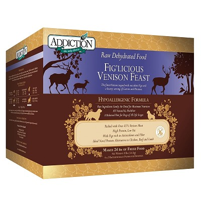 Discontinued, Addiction Grain-Free Fig'Licious Venison Feast Dehydrated Dog Food