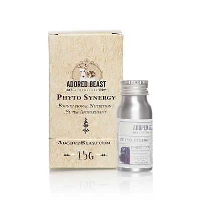 Adored Beast Apothecary Phyto Synergy Nutritional Super Antioxidant for Dogs & Cats, 15-Grams