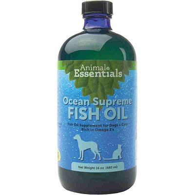 Animal Essentials Ocean Supreme Fish Oil Dog & Cat Supplement, 16-oz