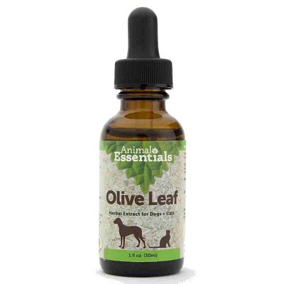 Animal Essentials Olive Leaf Herbal Extract Dog & Cat Supplement, 1-oz