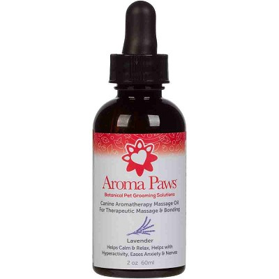 Aroma Paws Canine Aromatherapy Lavender Massage Oil for Dogs