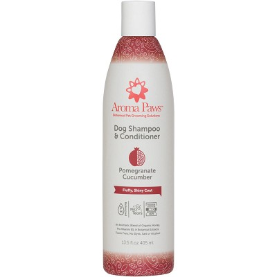 Aroma Paws Pomegranate and Cucumber Dog Shampoo and Conditioner, 13.5-oz