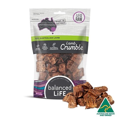Balanced LiFe Air Dried Lamb Crumble Dog Treats
