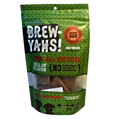 Bare Bites Brew Yah! Peanut Butter Dog Treats, 6-oz Bag