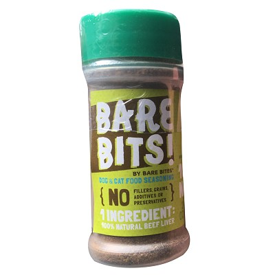 Bare Bites Bits! 100% Dehydrated Beef Liver Dog Food Topper