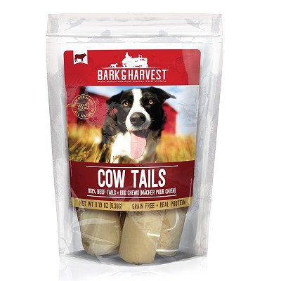 Bark & Harvest Cow Tails Dog Treats, 9 Count