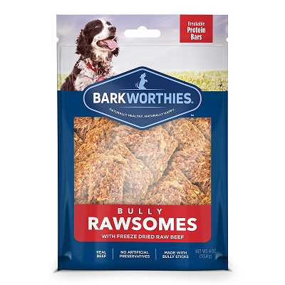 Barkworthies Bully Rawsomes with Freeze-Dried Raw Beef Dog Treats, 4-oz bag