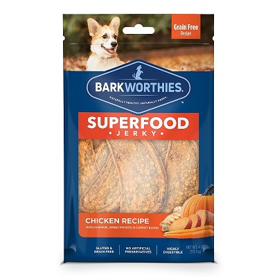 Barkworthies Chicken Jerky Dog Treats, 2-Pack, Case of 20