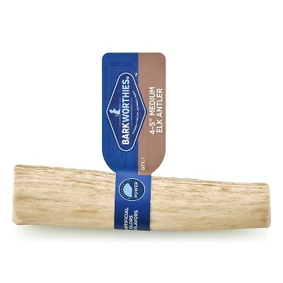 Barkworthies Medium Elk Antler Dog Chews, 4-5""