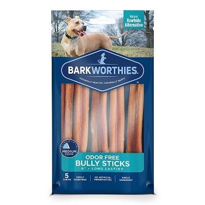 Barkworthies Odor Free Bully Sticks Dog Treats 6