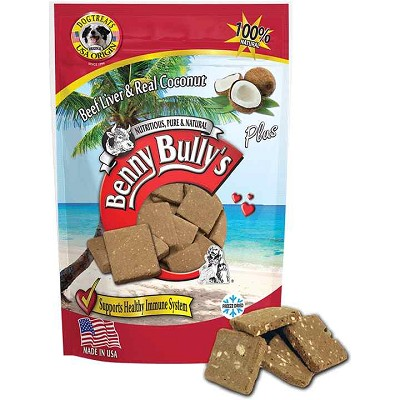 Benny Bully's Beef Liver & Real Coconut Freeze-Dried Dog Treats, 2.1-oz Bag