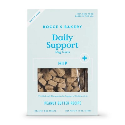 Bocce's Bakery Hip Aid Functional Peanut Butter Recipe Dog Treats